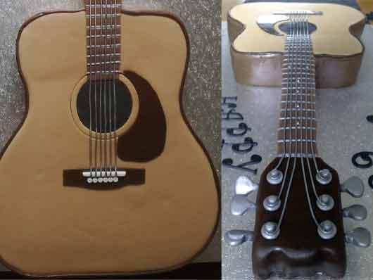 Торт гитара акустическая мастер класс